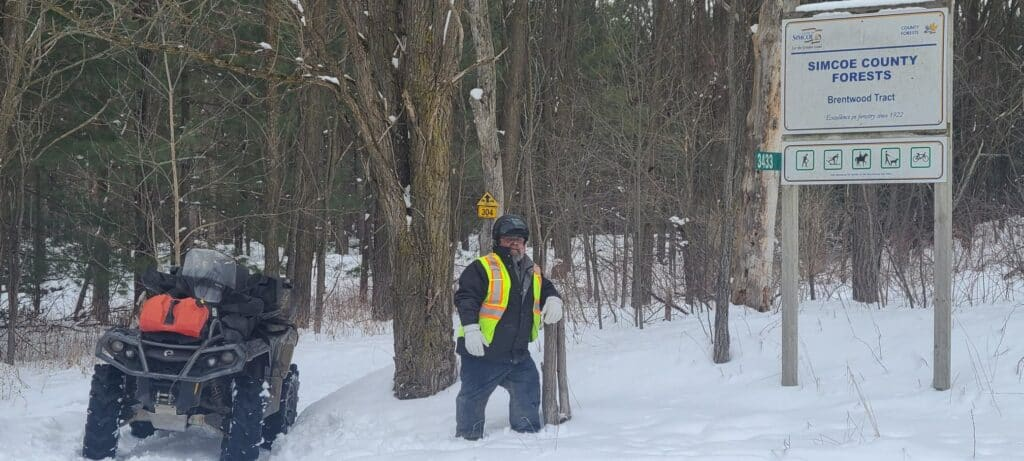 Winter ATV riding now allowed in Brentwood County Forest in Simcoe County.