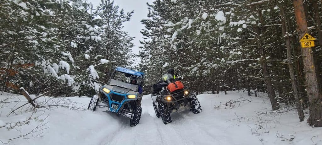 Plenty of snow in Brentwood County forest allowing our  OFATV members a great winter riding experience.